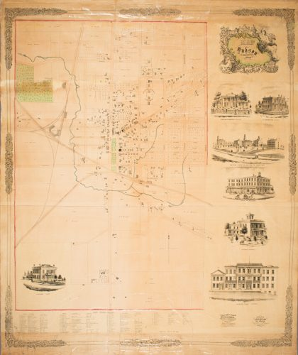 The 1855 plat map of Hudson.